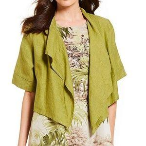Bryn Walker Malin Green Open Front Cropped Jacket